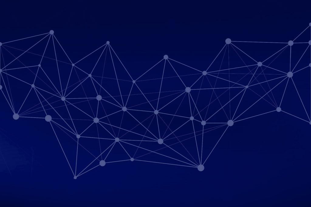 Abstract graph on dark blue background
